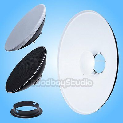 42cm White Honeycomb Grid Beauty Dish Elinchrom Mount Speedring Changeable