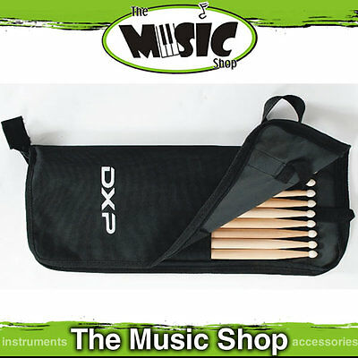 DXP Drumstick Bag with 5 Pairs of 5A Nylon Tip Drum Sticks Included! - TDK55AN