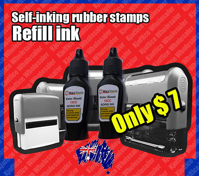 black Refill Ink for custom personalised self-inking stamp