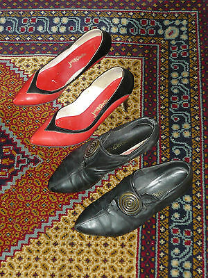 2x Vintage 80s Size 8 Shoes ~ Jane Debsters & Mr Christian High Heel Leather