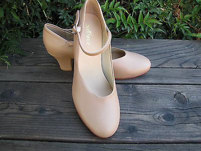 NEW CH 52 So Danca 7.5 L  Leather Soles Jazz Character ShoesTheatrical