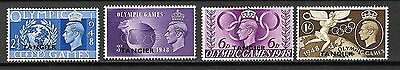 Great Britain Morocco Agencies Sc#527-30 LH 1948 Olympic Games