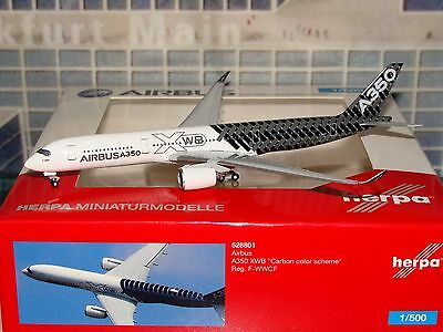 Herpa Wings 500 Airbus A350 XWB F-WWCF Carbon Color Scheme 528801 1/500 0316