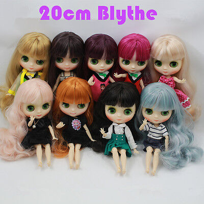 """New 20cm Height Takara Blythe Nude Doll 8"""" Middle Blythe Doll With Jointed Body"""