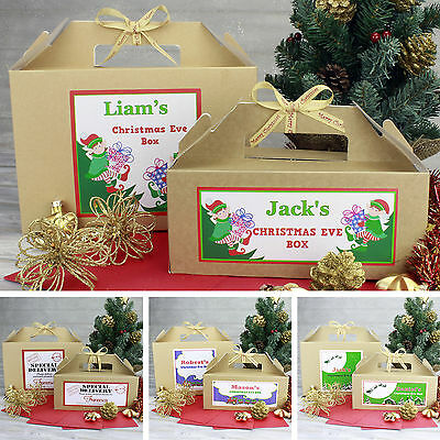 Personalised Christmas Eve Box | Large & Small Sizes | Kraft Brown | Party Gift
