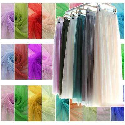 Premium Soft Tutu Net Tulle Mesh Fabric Fairy Dress Wedding Material 1/10 Metre