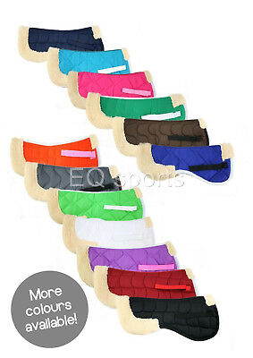 FREE P&P Quality Half Faux Fleece Numnah All Sizes & Colours Pony And Full !!
