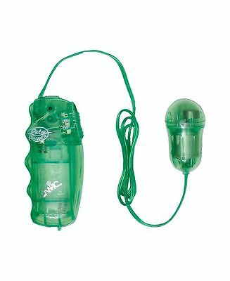 stimolatore vaginale ovetto con vibrazione Juzy gyrating vibe clear green