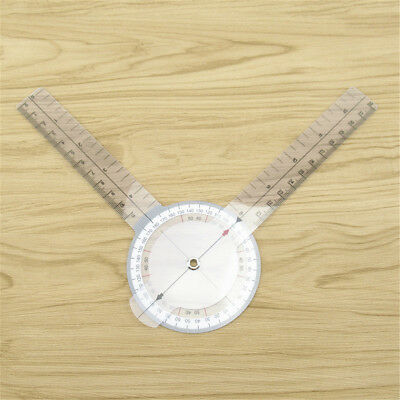 12'' 320mm PVC Medical Goniometer Angle Ruler Joint Bend Measurement Tool