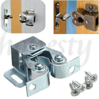 1-10Pcs Double Ball Roller Catches Cupboard Cabinet Door Latch Hardware Copper