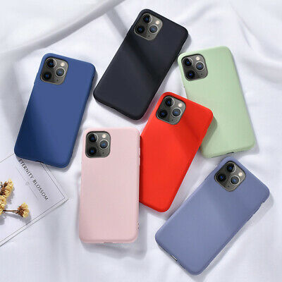 For Apple iPhone XS Max 7 8 6 Ultra Thin Matte Soft Silicone TPU Back Case Cover