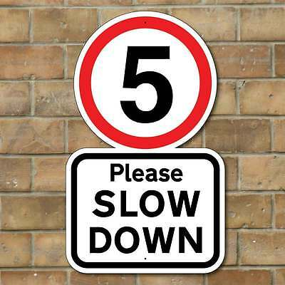 Please Slow Down, 5Mph Road Sign, Robust Road Safety Sign, Speed Limit Sign