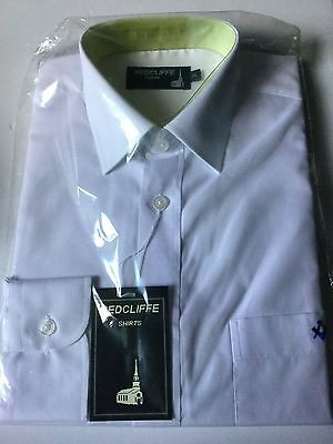 """2 x Masonic White Shirt with Square and Compass - Size 15"""" Collar"""