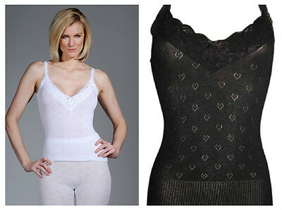 Ladies French neck thermal Spencer available in black and white