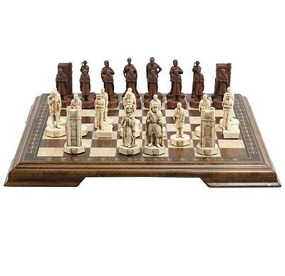 Studio Anne Carlton CAMBRIDGE V OXFORD Red Ivory CHESS PLAYING PIECES Set