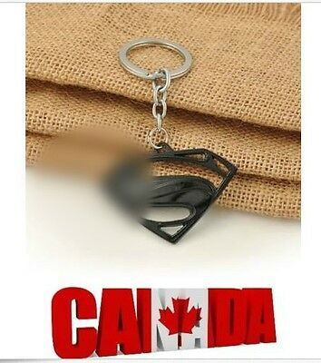New Key Ring KeyChain Comics Black for Super Logo Decoration