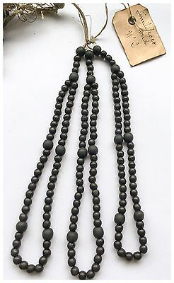 Vintage Antique French 1920's Ebony Rosary Making  Beads  5mm & 8mm