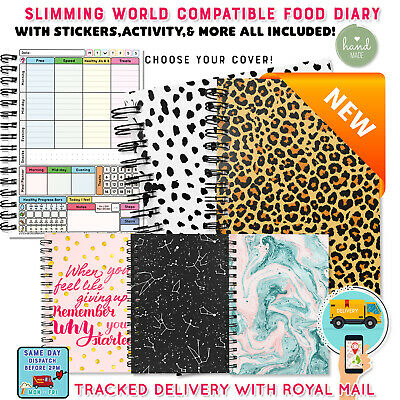 Diet Food Diary Slimming World Compatible Planner Tracker Log Book & Weight Loss