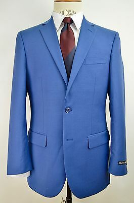Men's Sky Blue 2 Button Slim Fit Suit NEW