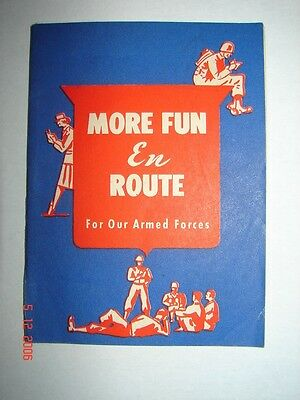 WW 2 - MORE FUN EN ROUTE For Our ARMED FORCES - GAMES & MORE 1944 FIRESTONE TIRE