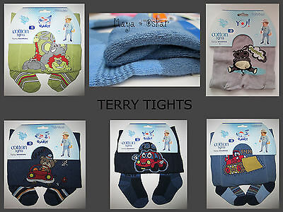 BABY BOYS COTTON TERRY THICK WINTER TIGHTS LEG WARMERS SOCKS PANTS 3m 12m 2 4y