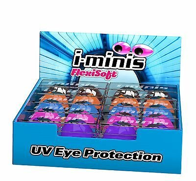i-minis x 1 sunbed tanning goggles UV eye protection pink blue black purple red