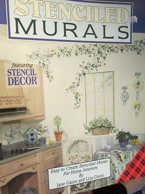 Basic Guide To Stenciled Murals Painting Book-Gauss & Glenn- Stencils NOT Includ
