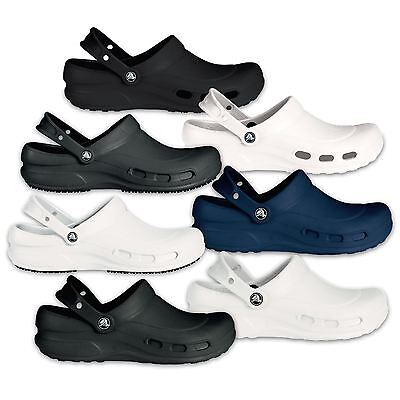 Crocs Specialist Vent Medical & Bistro Professionals Clogs in Black White & Blue