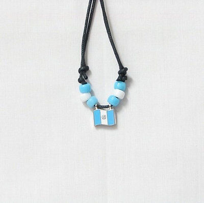 Guatemala  Country Flag Small Metal Necklace Choker .. New