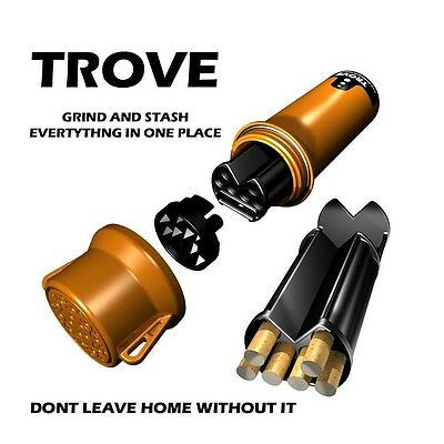 Trove - Rolling Paper Buddy Stash Case & Grinder In One - Water & Smell Proof
