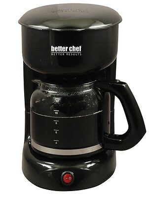 Better Chef 12 Cup Coffee Maker Cord Storage BLACK Grab a Cup