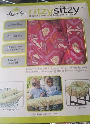 Itzy Ritzy Ritzy Sitzy Shopping Cart and High Chair Cover, Modern Damask