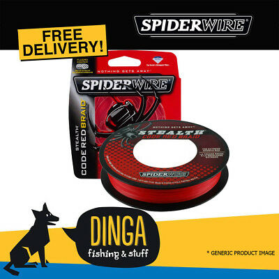 SPIDERWIRE Stealth Code Red 300M 20lb Braid Fishing Line