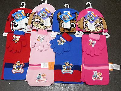 Brand New Boys & Girls Paw Patrol Hat Gloves & Scarf Set Official Merchandise