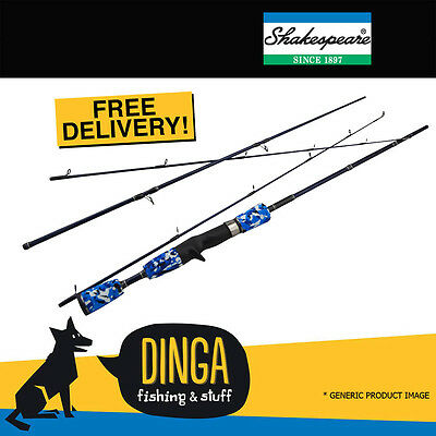 "Shakespeare Slingshot Spin 6'0"" 3PC Extra Light Action Travel Fishing Rod"