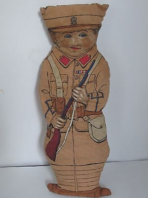 Vintage Soldier Printed Cloth Doll