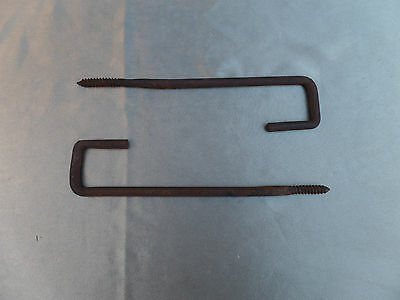 "Vintage Large Hooks 13"" Barn Garden Rusty Re-Use Re-Purpose Set Of 2 Hanging"