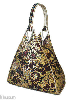 New Design Chinese Hademade Silk Triangle Handbag Bag Purses