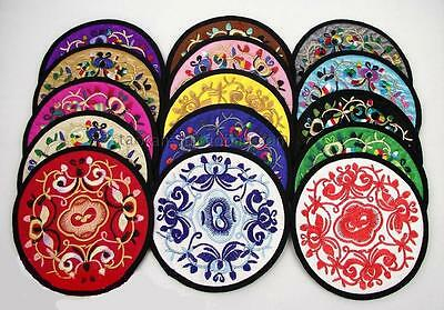 Wholesale20pcs Chinese Handmade Vintage Silk Embroiderd Cup-Mat  Pad Coaster
