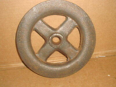 Vintage Large Heavy Cast Iron Pulley Wheel Antique Hit Miss Farm Steampunk