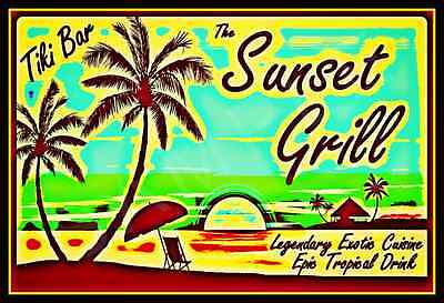 LET/'S GO TO THE BEACH METAL SIGN 8X12 ALL WEATHER TIKI BAR MARGARITAVILLE LUAU