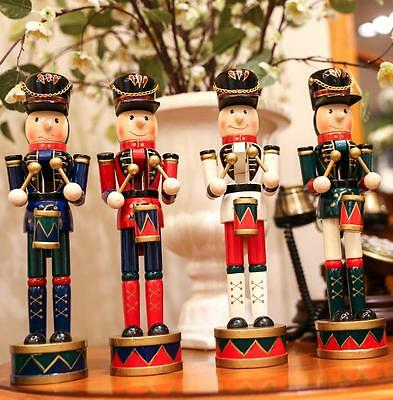 Lovely Wooden Nutcracker Soldier Christmas Nutcracker Soldiers Honor Guard Decor