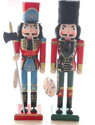 Handmade Walnut Soldiers Christmas Wooden Nutcracker Ornaments Xmas Decoration