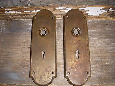 Rustic Steampunk Shabby Arched Mission Style Door Knob Back Plates Arts/crafts