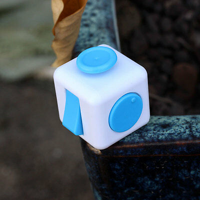1PCs Stress Relief Fidget Cube Dice Gift For Family Adults Kids Light Blue