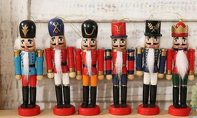 "4"" Wooden German Nutcracker Soldiers Christmas Walnut Ornaments Home Decoration"