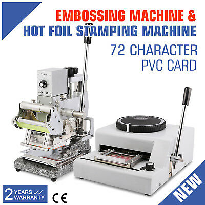 72C Embossing Machine Hot Foil Stamping Steel Tipper Printer Credit Card