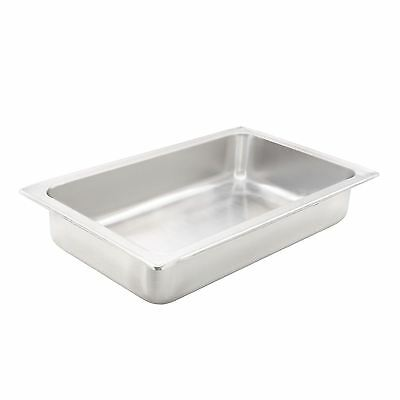 """Winco C-WPF Water Pan, Full Size, 4"""" Deep, Stainless Steel"""