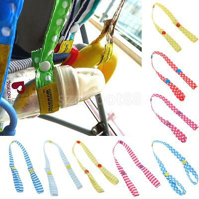 Universal Baby Bottle Toys Safety Stroller Strap Belt Pacifier Holders Organizer