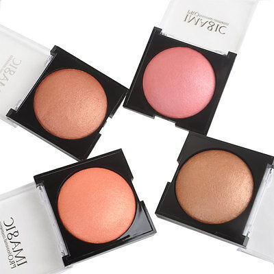 Women Makeup Baked Cheek Color Blusher Blush Makeup Shimmer Palette Cosmetic New